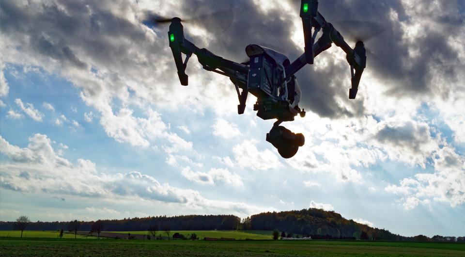 DJI Inspire im Einsatz bei der Drohnenschulung
